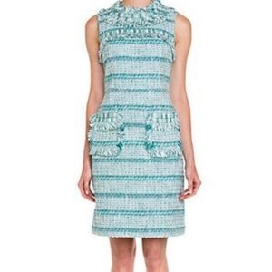 NWT Tory Burch Curtis Tweed Fringe Dress Size 8